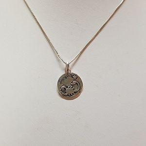 Sterling Silver Scorpio Zodiac Necklace